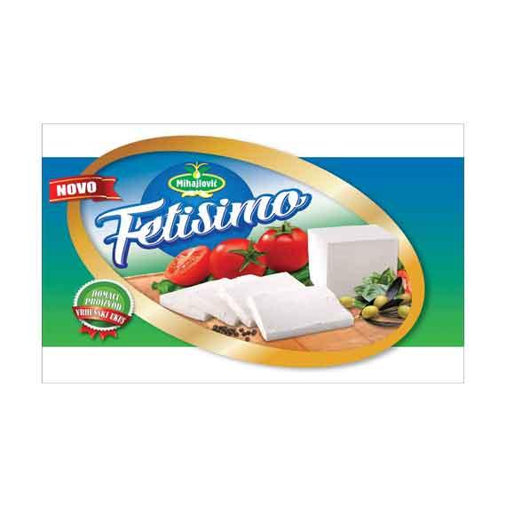 Fetisimo Sir feta 5kg – mešoviti proizvod od mleka