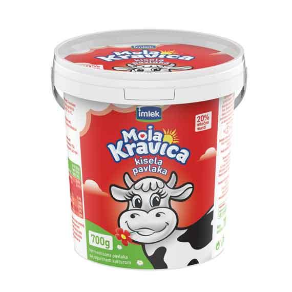 Kisela pavlaka Moja kravica 700gr 20%