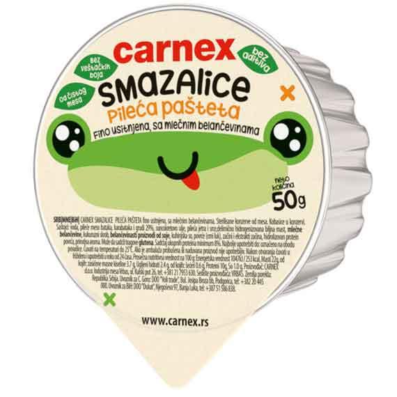 Pileća pašteta Smazalice Carnex 50gr