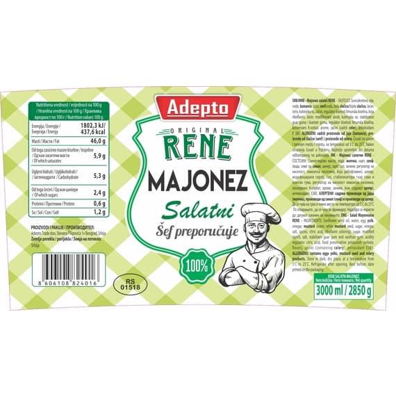 Majonez salatni RENE 3kg